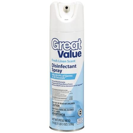 great value disinfectant spray fresh linen scent 19 oz