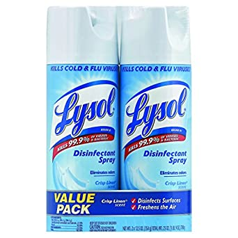 lysol disinfectant spray crisp linen 12.5 oz