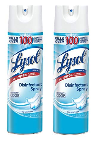 lysol disinfectant spray crisp linen 19oz