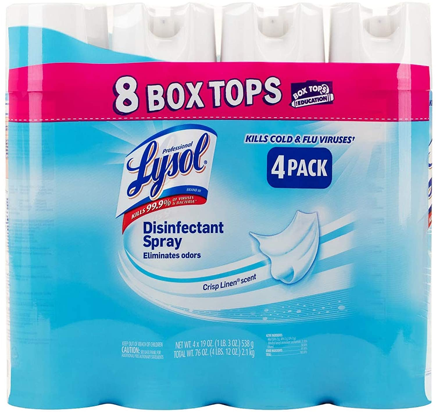 lysol disinfectant spray crisp linen scent 4 pack 19 oz