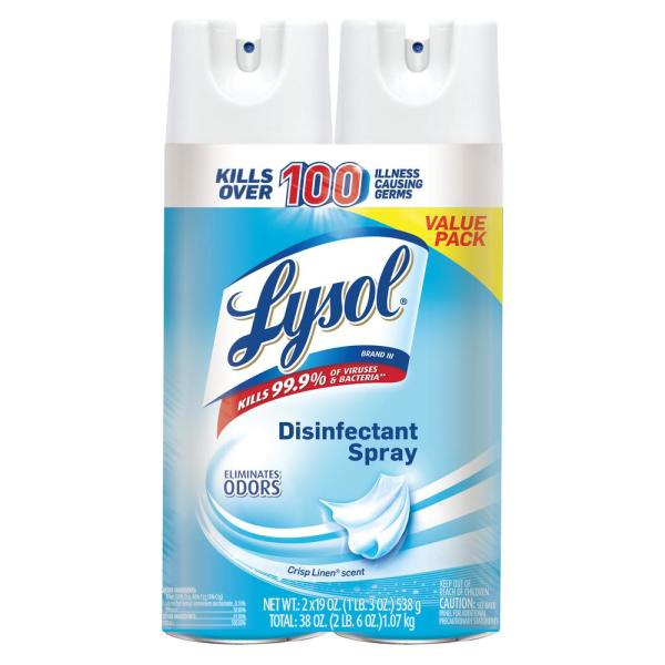 lysol disinfectant spray crisp linen