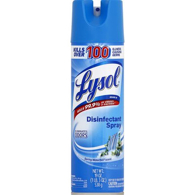 lysol disinfectant spray spring waterfall scent 19 oz